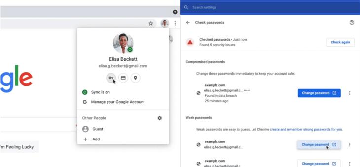 Google Chrome 88 permet de mieux gérer vos mots de passe et de les rendre plus sûrs